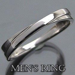 K18WGメンズリング 誕生日プレゼント クロスデザイン指輪 ホワイトゴールドK18アクセサリーショップ オシャレ 贈り物 ギフト