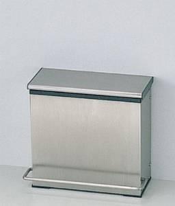 TOTO YKB102 チャームボックス(汚物入れ)330×171×300 容量:6L 本体: ステンレス製 中箱: 樹脂製 床置き固定・足踏み式