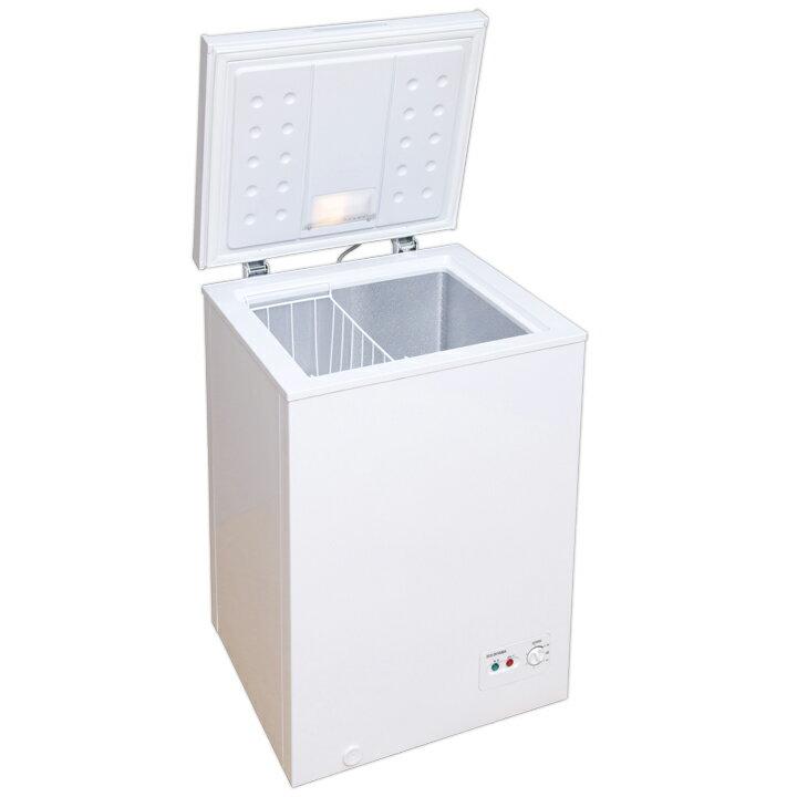 大容�� 冷�庫 PF-A100TD-W�料無料 冷�庫 アイリスオーヤマ フリーザー 冷�ストッカー 大容� 100L コンパクト 冷� 専用 温度調節 �エ� 上開� 低騒音 仕分��スケット付 ��ゃれ  �D】