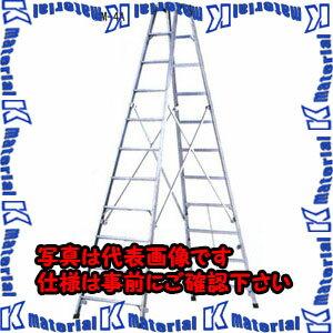 【代引不可】ESCO(エスコ) 3.77m 脚 立(ワイドステップ/アルミ製) EA903AM-6A