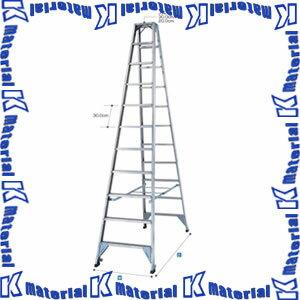 【代引不可】【送料1620円】長谷川工業 幅広ステップ長尺強力型脚立 天板高3.16m FAM-330 10485 [HS0085]