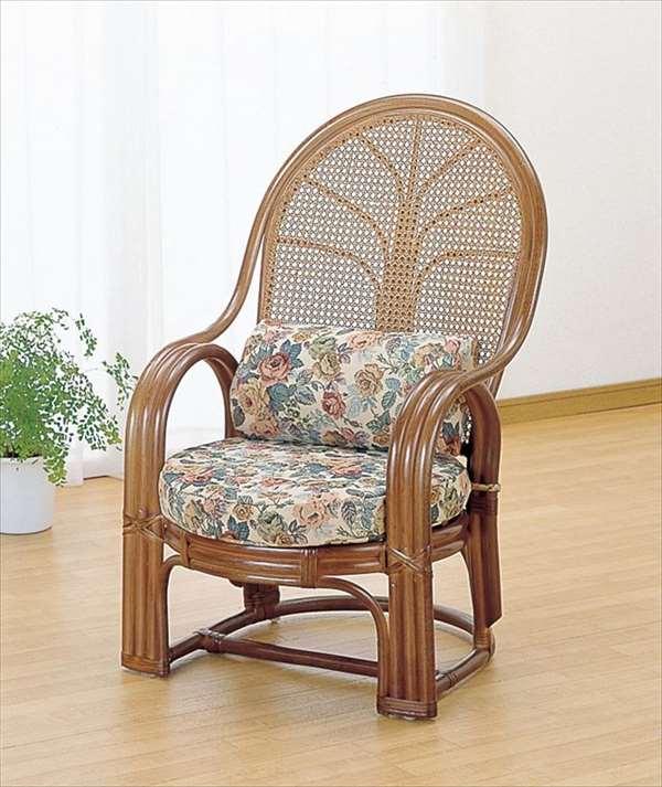 【送料無料】 アームチェア TK-667B ブラウン 籐 籐家具 座椅子 椅子 イス アジアンリビングルーム籐ラタン製 輸入品 完成品 【smtb-MS】