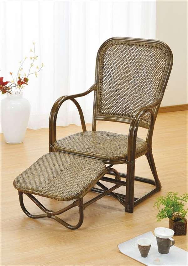【送料無料】 籐リラックスチェア Y-43B ブラウン 籐 籐家具 座椅子 椅子 イス アジアンリビングルーム籐ラタン製 輸入品 完成品