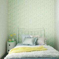 お花畑な寝室のりも水も不要 すぐに張れる壁紙 のり付 クロス 生のり付き壁紙/シンコールBA6333...