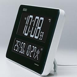 セイコー【SEIKO】交流式デジタル掛け時計(置き用スタンド付) DL208W★【選べる70色】