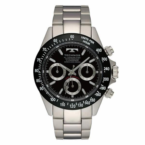 テクノス メンズ腕時計 TSM401TB(ブラック)(快適家電デジタルライフ)