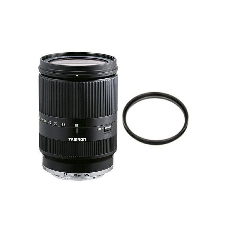 【レンズ保護フィルター付】 タムロン 高倍率ズームレンズ 18-200mm F/3.5-6.3 Di III VC キヤノンEOS-M用 ブラック (Model B011EM) 【快適家電デジタルライフ】