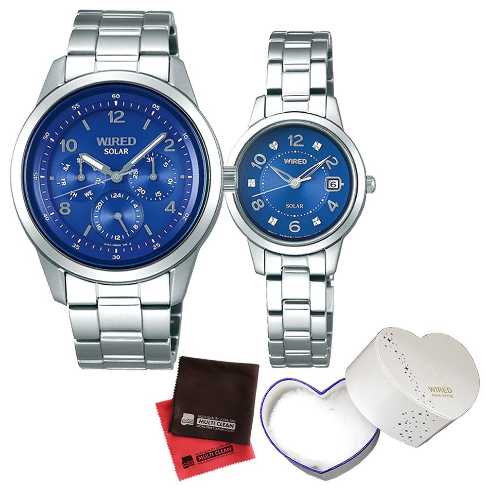 【専用ペア箱&マイクロファイバー付きセット】 【国内正規品】SEIKO(セイコー) 腕時計  AGAD081 WIRED メンズ・AGED081 WIREDf レディース【快適家電デジタルライフ】