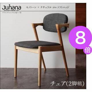 ★ポイント8倍★デザインダイニングセット【Juhana】ユハナ/チェア(2脚組)[00]