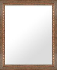 鏡 ミラー 壁掛け鏡 ウォールミラー:LP716ブラウン Mサイズ