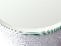 【国産】【クリアーミラー(通常の鏡)(防湿 防錆加工)(5ミリ厚)(円形)(15ミリ面取り加工)】 鏡 ミラー 板鏡 カット サイズカット 特注:610mmx406mm(鏡板 ガラス鏡 鏡ガラス洗面所 トイレ 洗面 かがみ 鏡販売 洗面鏡 トイレ鏡 防錆 防湿 浴室)
