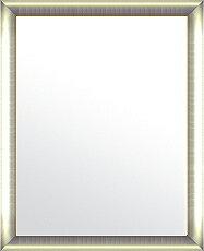 鏡 ミラー 壁掛け鏡 ウォールミラー:シルバーコンチネンタル ゴールドインナー(大)386mmx486mm
