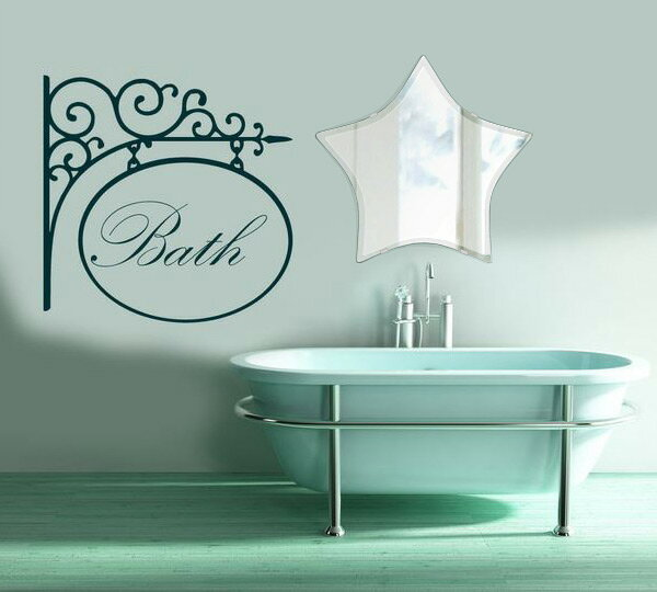 トイレ鏡 洗面鏡 化粧鏡 浴室鏡 クリスタルミラー シリーズ:cdx-star550x520-9mm(スター)(クリアーミラー クリスタルカットタイプ)( 鏡 壁掛け 鏡 姿見 壁掛けミラー ウォールミラー )