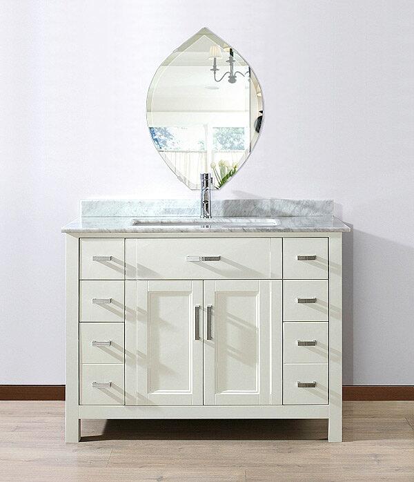 トイレ鏡 洗面鏡 化粧鏡 浴室鏡 クリスタルミラー シリーズ:cdx-leek430x600-18mm(リーク)(クリアーミラー デラックスカットタイプ)( 鏡 壁掛け 鏡 姿見 壁掛けミラー ウォールミラー )