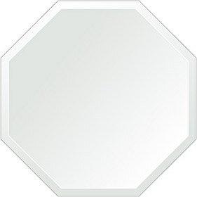 トイレ鏡 洗面鏡 化粧鏡 浴室鏡 クリスタルミラー シリーズ:cdx-regularoctagon550x550-18mm(レギュラーオクタゴン)(クリアーミラー デラックスカットタイプ)( 鏡 壁掛け 鏡 姿見 壁掛けミラー ウォールミラー )