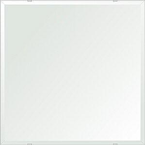 鏡 ミラー 壁掛け鏡 ウォールミラー クリスタルミラー シリーズ(一般空間用):i-cm-h-4m18-600mmx600mm(正方形)(クリアーミラー デラックスカットタイプ)