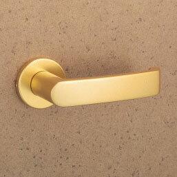 MIWA LOF アルミ製 31-GD レバーハンドル(片側戸襖ハンドル)一式 交換 取替え用アルミゴールド空錠(間仕切り・寝室・子供部屋等)【送料無料】