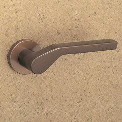 MIWA LOF アルミ製 34-CBレバーハンドル(片側戸襖ハンドル)一式 交換 取替え用アルミブロンズ空錠(間仕切り・寝室・子供部屋等)【送料無料】