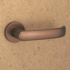MIWA LOF アルミ製 373-CBレバーハンドル(片側戸襖ハンドル)一式 交換 取替え用アルミブロンズ空錠(間仕切り・寝室・子供部屋等)【送料無料】