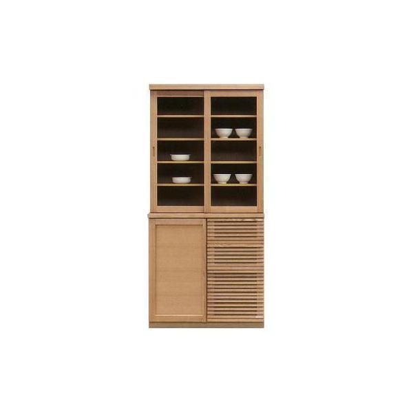 90 食器棚 キッチンボード ダイニングボード キッチン収納 キャビネット カップボード 木製 国産 完成品 ナチュラル 北欧