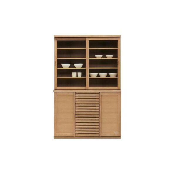 120 食器棚 キッチンボード ダイニングボード キッチン収納 キャビネット カップボード 木製 国産 完成品 ナチュラル 北欧