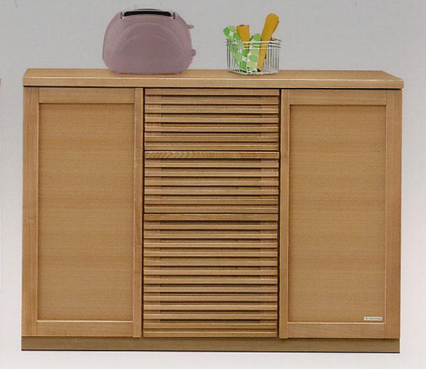 120 カウンター キッチン収納キャビネット キッチンカウンター 台所収納 レンジ台 木製 国産 完成品 ナチュラル 北欧