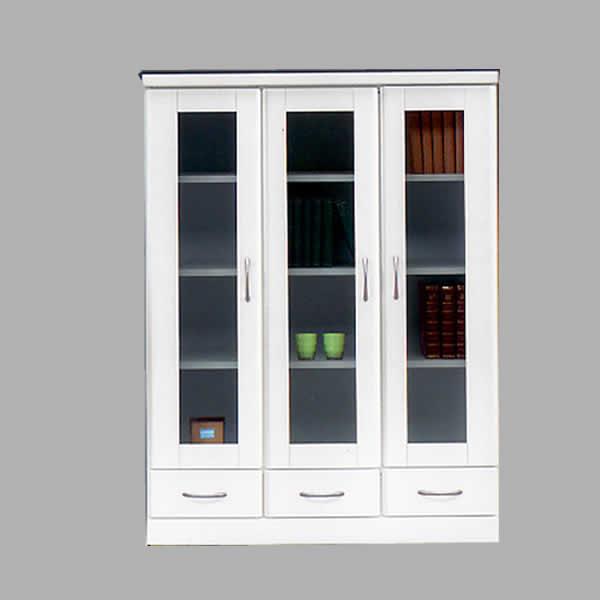 【送料無料】本棚 書棚 ミドルボード 幅90cm ホワイト MDF リビング 大型 家具通販 大川市
