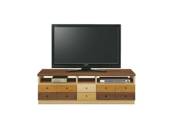 天然木の異素材の組み合わせナチュラルなグラデーションテレビボード・アルダー・メープル・バーチ・ウォールナット無垢材・国産・日本製・木製・エコ仕様テレビ台