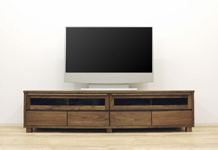 天然木ウォールナット無垢材使用の日本製テレビボード自然塗装オイル仕上げ 2素材対応 3サイズから選べますテレビ台 国産 セミオーダー 木製脚 フラップ扉