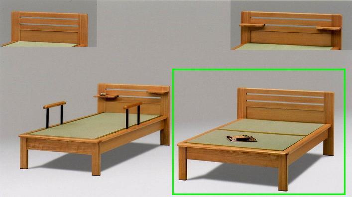 畳ベッド 木製 仁 ヘッドシェルフ、手摺りなし セミダブル畳ベッド ナチュラル 05P03Dec16