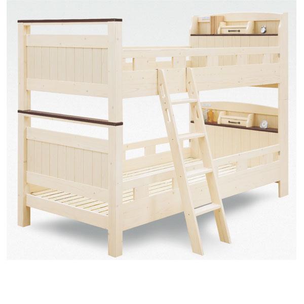 二段 ベッド 2段ベッド 2段ベット スノコ 木製 二段ベッド パイン ナチュラル 送料無料 固定式 05P03Dec16