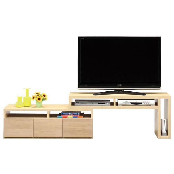 送料無料 開梱設置テレビボード ローボード テレビ台伸縮 120cm幅 「ヲサレ」 2色対応