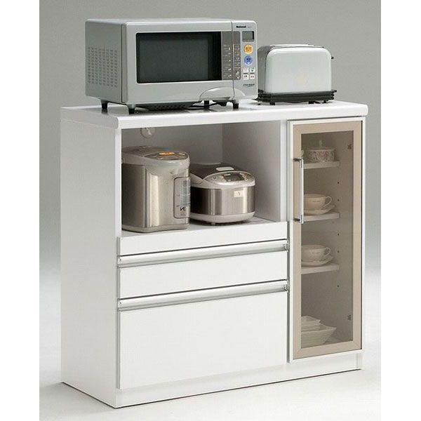 カウンターワゴン キッチンカウンター完成品  90cm幅開梱設置 送料無料