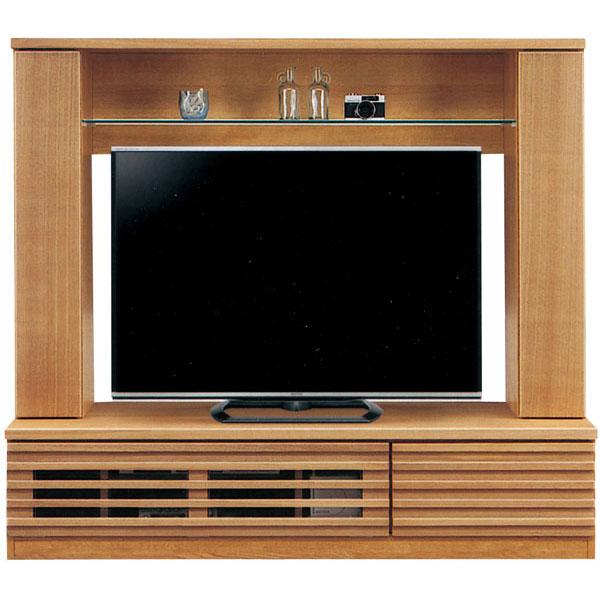 テレビボード ミドルタイプ完成品 155cm幅 「ライン」開梱設置 送料無料