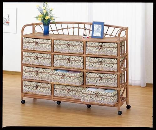 部屋を選ばない、シンプルなデザイン ワイドランドリー12杯 収納家具 ランドリーチェスト ランドリーラック 籐製 ラタン 送料無料