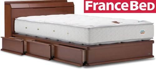 フランスベッド★ベッドフレーム+マットレスセット LT-122C DR+LT-500 シングル シングルサイズ シングルベッド シングルベット 送料無料 [f1109]