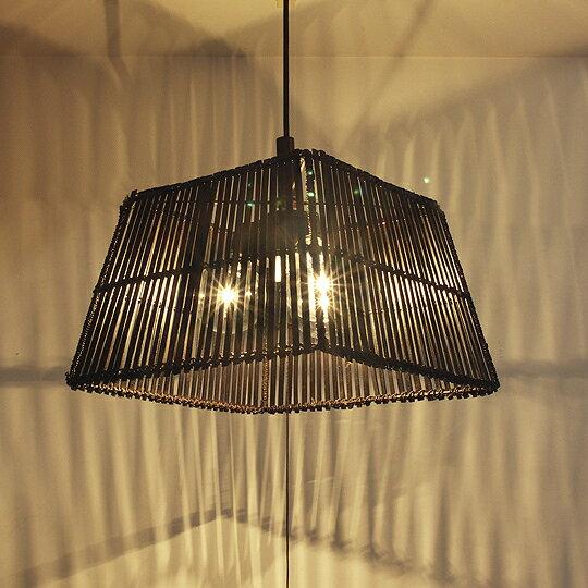 ペンダントライト BAMBOO角(バンブー)3灯照明 ペンダント 天井照明 アジアン 白熱灯 送料無料
