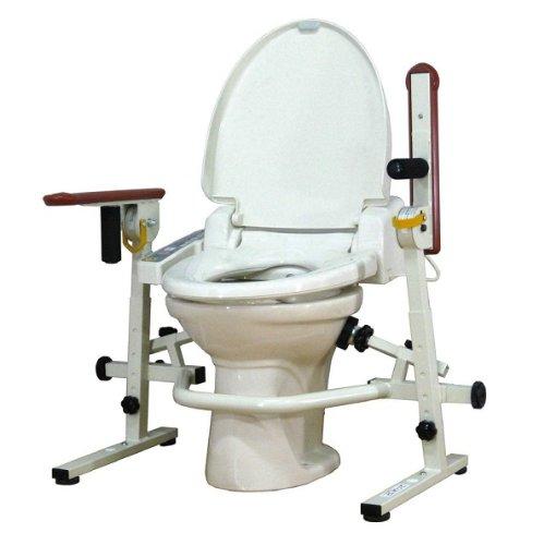 洋式トイレ手すり といれって(肘掛スライド式)S-W 介護用品 手摺