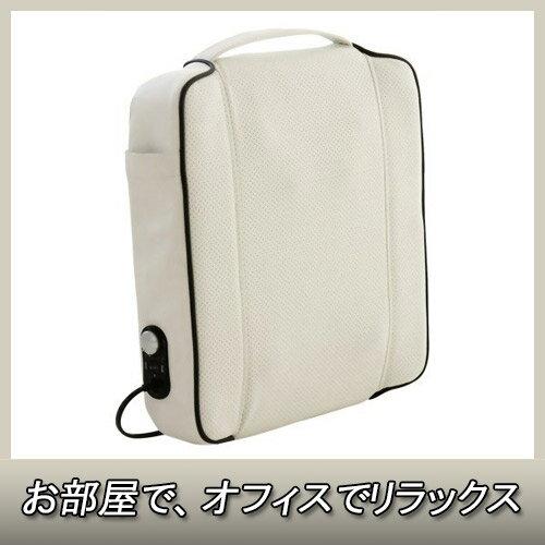 クロシオ 58303 マッサージ器 セシル ホワイト【ソファや椅子に置いて簡単マッサージ】