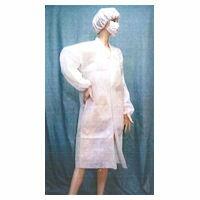 不織布白衣[マジックテープタイプ] Lサイズ 50枚×2箱[100枚]/ケース【送料無料】