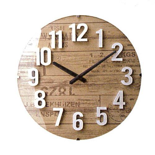 【送料無料】掛け時計 電波時計 バルト インターフォルム【壁掛け時計 ウォールクロック おしゃれ かわいい ブルックリン 西海岸 デザイン 北欧 壁時計 壁掛け 雑貨 リビング ダイニング モダン アンティーク 電波掛け時計 インテリア 】