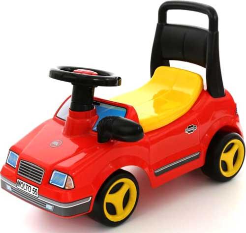 乗用玩具 4輪スポーツカー地面を蹴って進むおもちゃ背もたれ付きレッド×イエロー誕生日プレゼントやお孫さんへの贈り物に大人気捕まり立ち車 ライドオンキックカー