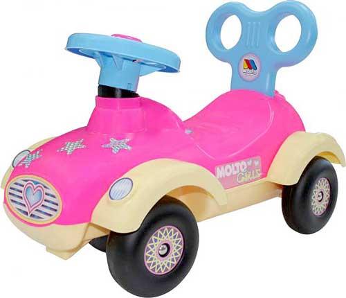 乗用玩具 4輪クラシックスポーツカー地面を蹴って進むおもちゃ背もたれ付きスピードスターピンク×ライトブルー×アイボリー誕生日プレゼントやお孫さんへの贈り物に大人気捕まり立ち車 ライドオンキックカー