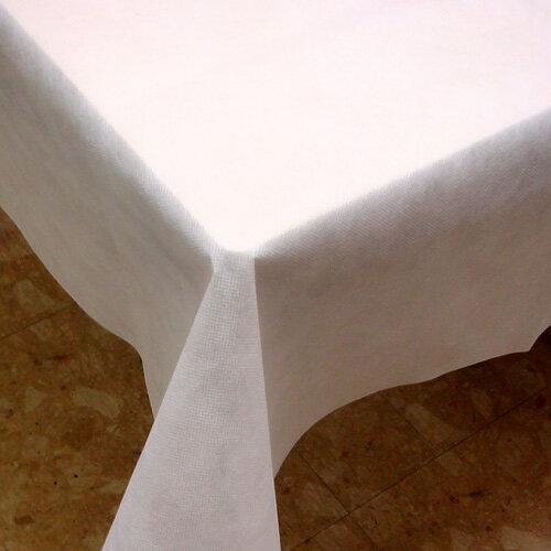 【箱】不織布テーブルクロス150cm角(50枚)ホワイト【送料無料】