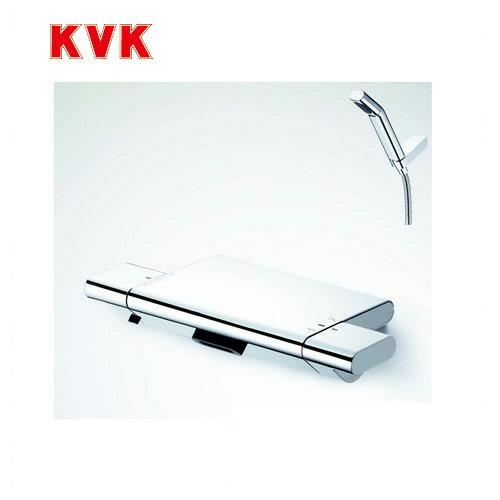 [KF900W]KVK 浴室水栓 サーモスタット式シャワー 壁付タイプ 寒冷地用 【送料無料】
