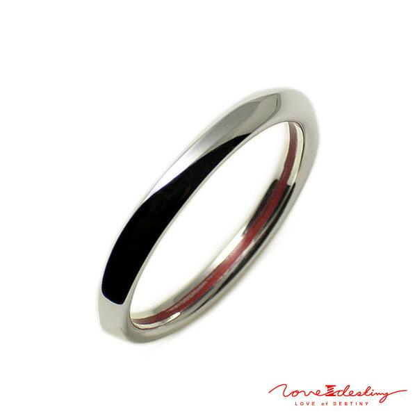 赤い糸で結ばれたアクセサリー LOVE of DESTINY メンズ リング シルバー950(SV950) LODR-027M ギフト プレゼント ジュエリー