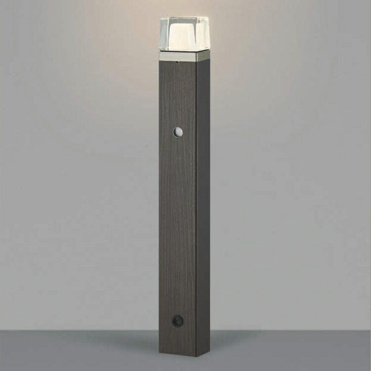 照明 LED 外灯 屋外照明 LED 外灯一体型 エクステリア ポール灯 外灯 木質調 アウトドア おしゃれ 木調 自動点滅器付