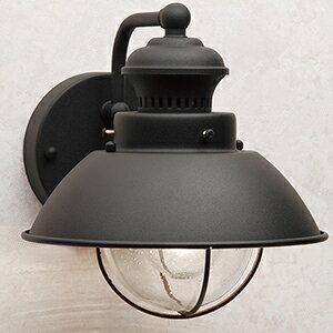 玄関照明 外灯 ポーチライト LED ランプ 門灯 壁付け照明 センサーなし LED一体型 節電対応 エクステリアライト 外灯 照明  アンティーク風 ベーシック玄関照明 外灯 ブラック