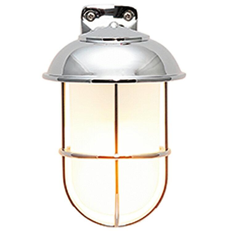 玄関照明 外灯 照明 ガーデンライト ランプ 門灯 センサなし エクステリアライト 外灯 照明 アンティーク風 レトロ おしゃれ 玄関照明 外灯 センサー無し ブラケット LED くもりガラス マリンライト クローム