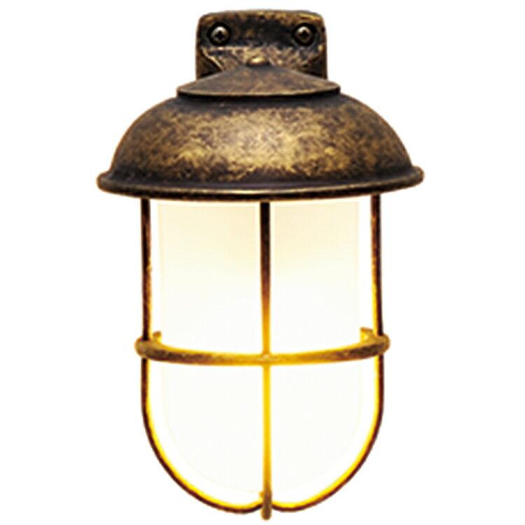 玄関照明 外灯 照明 ガーデンライト ランプ 門灯 センサなし エクステリアライト 外灯 照明 アンティーク風 レトロ おしゃれ 玄関照明 外灯 センサー無し ブラケット LED くもりガラス マリンライト 古色